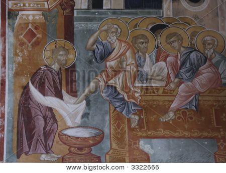 Washing Of Feet At Last Supper