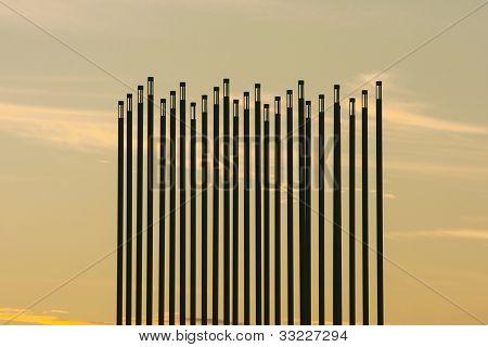 Marco de vento pradaria em Saskatoon, Canadá