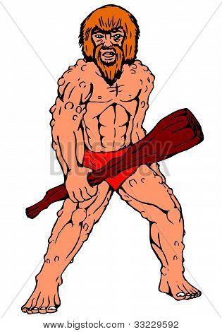 caveman holding club