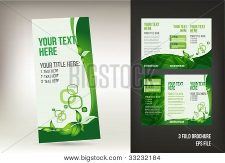 Eco green brochure design