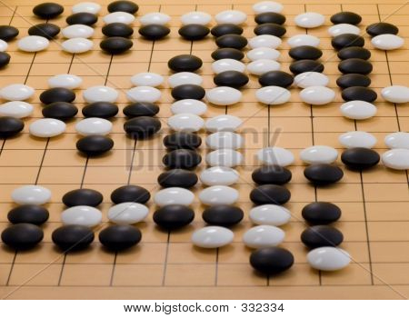 Go Board - Mid Game