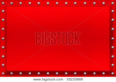 Red Sign Background Rivets and Bevel