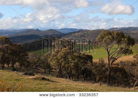 A Rural Landscape Near Oberon. New South Wales. Australia.