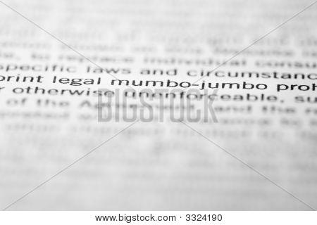 Legal Mumbo-Jumbo