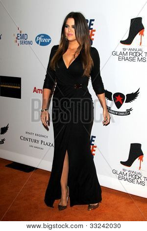 LOS ANGELES - MAY 18:  Khloe Kardashian arrives at the 19th Annual Race to Erase MS gala at Century Plaza Hotel on May 18, 2012 in Century City, CA