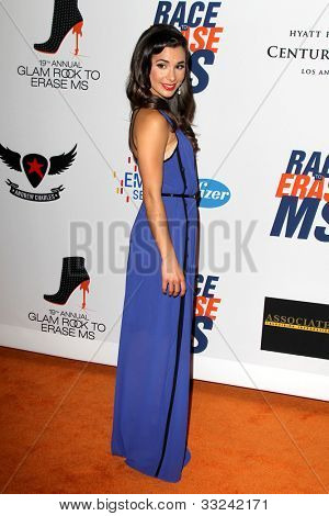 LOS ANGELES - MAY 18:  Josie Loren arrives at the 19th Annual Race to Erase MS gala at Century Plaza Hotel on May 18, 2012 in Century City, CA