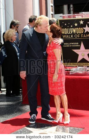 LOS ANGELES - MAY 22:  David Hunt, Patricia Heaton at the ceremony honoring Patricia Heaton with a Star on The Hollywood Walk of Fame at Hollywood Boulevard on May 22, 2012 in Los Angeles, CA