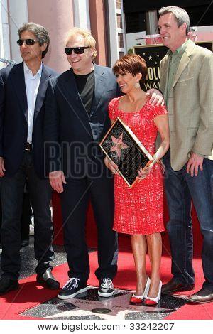 LOS ANGELES - MAY 22:  Ray Romano, David Hunt, Patricia Heaton, Neil Flynn at the Hollywood WOF Ceremony for Patrica Heaton at Hollywood Boulevard on May 22, 2012 in Los Angeles, CA