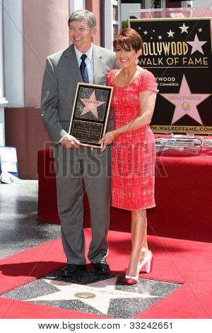 LOS ANGELES - MAY 22:  Leron Gubler, Patricia Heaton at the ceremony honoring Patricia Heaton with a Star on The Hollywood Walk of Fame at Hollywood Boulevard on May 22, 2012 in Los Angeles, CA