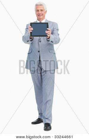 Boss showing a touch Pad screen against white background
