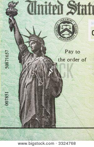 Steuer Rückerstattungsscheck