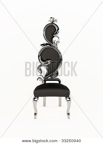 Luxurious Chair With Roayl Frame Isolated On White Background