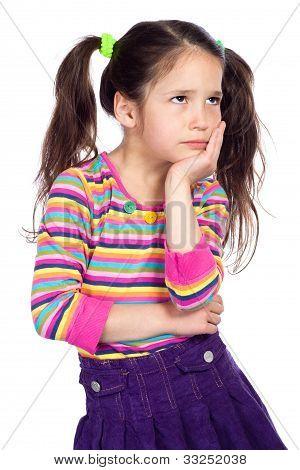 Portrait of pensive little girl