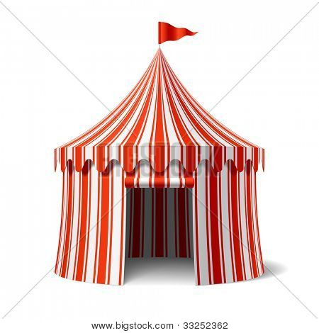 Circus tent. Vector.