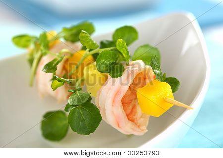 Shrimp, Mango and Watercress Salad