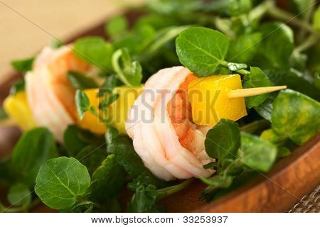 Shrimp, Mango and Watercress Salad