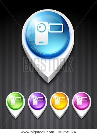 vector camera recorder icon design art