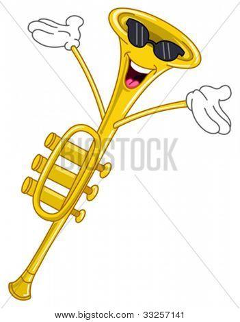 Trumpet cartoon