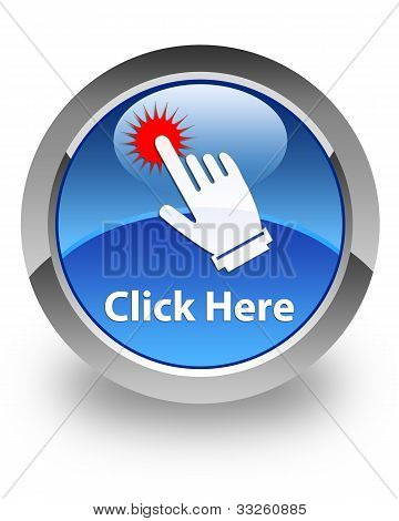 Click Here glossy icon