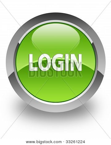 Login glossy icon