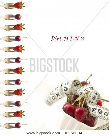 red fruit diet menu for restaurants