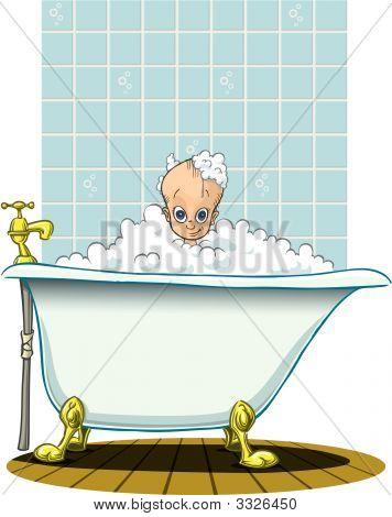 Tempo de banho para bebê