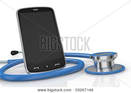 Smartphone And Stethoscope