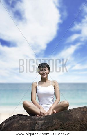 Beautiful woman at beach