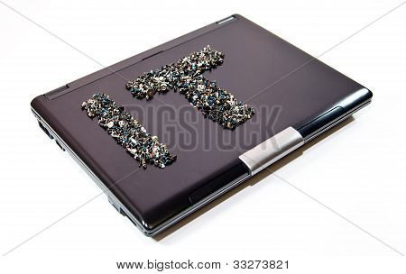 It Word On Laptop Cover