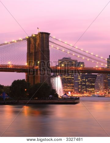 Sunrise Over The Brooklyn Bridge