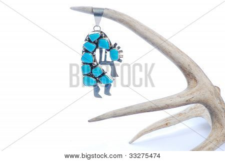 Kokopelli On Deer Antler