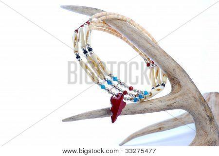 Indian Jewelry On Deer Antler