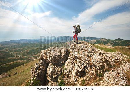 men in hike