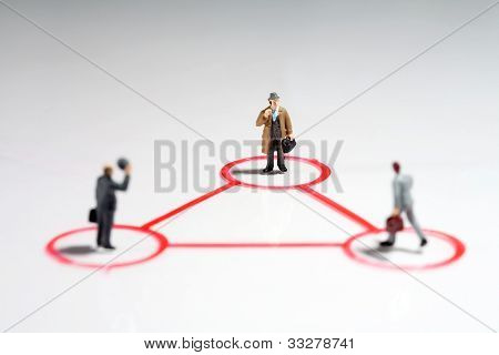 Equilateral Triangle Of Businessmen