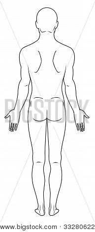 Naked standing man