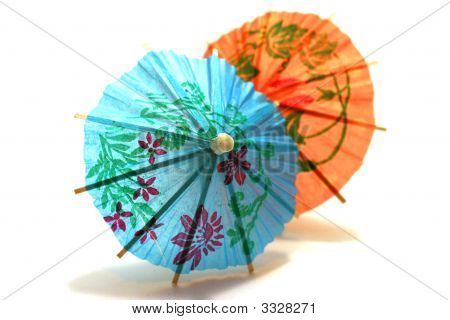 Two Colored Cocktail Umbrella
