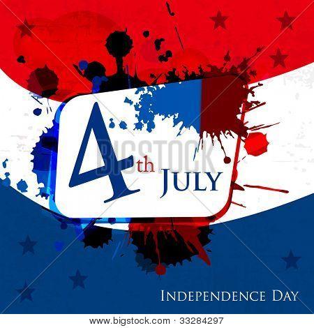 amerikanische Flagge Hintergrund Farben mit grunge-Welle Muster symbolisiert und Platz für Ihren Text für 4