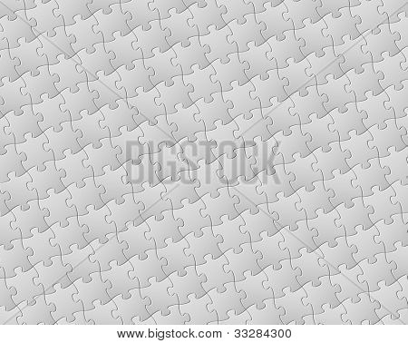 Vector Abstract background made from white puzzle pieces (jigsaw pattern)