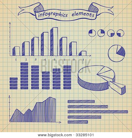 Infographics elements sketch
