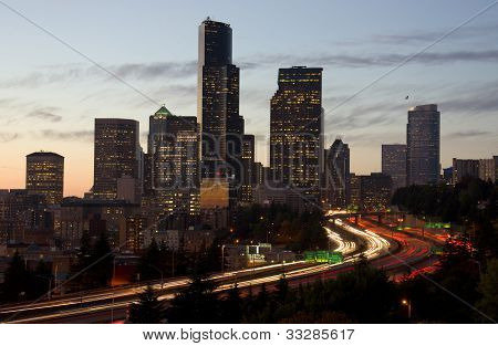 Highway Cuts Through Seattle