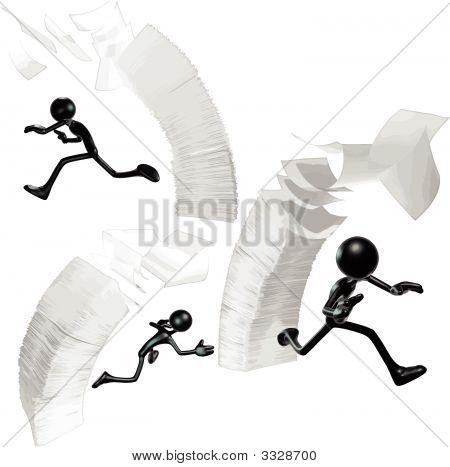 Falling Paperwork