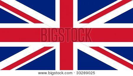 Illustration der britischen Union Jack nationale Markierungsfahne.