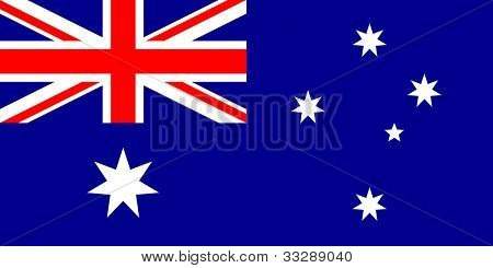 Sovereign state flag of country of Australia in official colors.