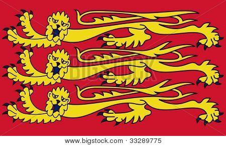 Royal English standard, isolated on white background.