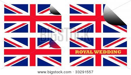 Union Jack flags of England or Great Britain.