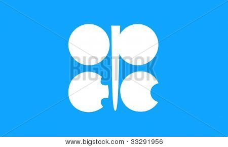 OPEC or oraganization of oil exporting countries flag.