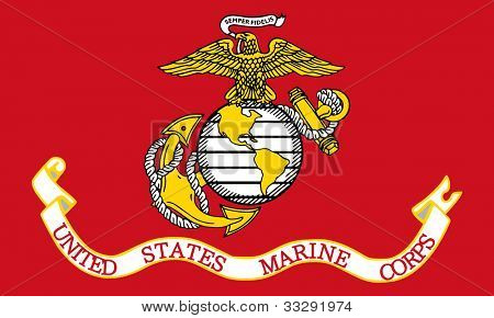 Illustration of the United States Marine Corps flag