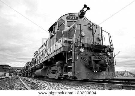 Diesel Electric Freight Train Engine Locomotive