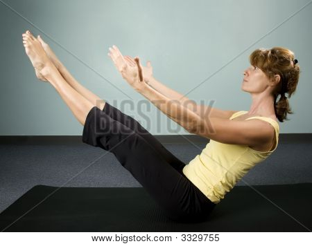 Woman Excercising