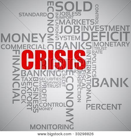 Finanzkrise-Konzept